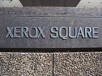 Xerox Tower - Image: Xerox Square plaque