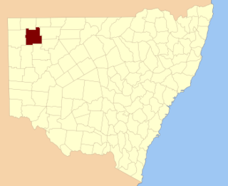 Yantara County Cadastral in New South Wales, Australia