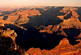 Yaqui Point Grand Canyon sunrise 1986.jpg