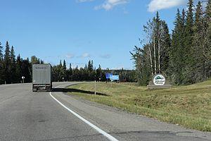 Yellowhead County - Entering Yellowhead County on the Yellowhead Highway