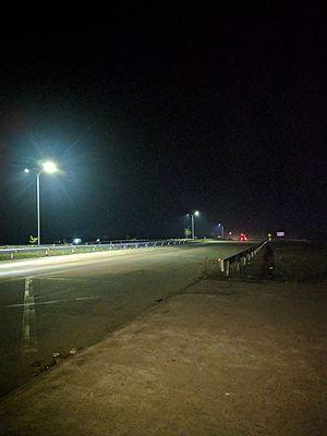 Yangon–Mandalay Expressway - Night view of Expressway