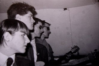 Young Marble Giants - Alison Statton, Peter Joyce, Philip Moxham, Stuart Moxham in about 1978/79