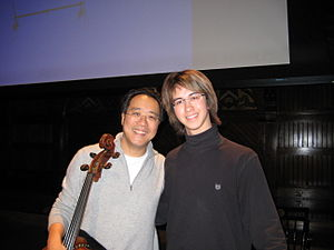 Charlie Albright - Yo-Yo Ma with Albright in December 2008