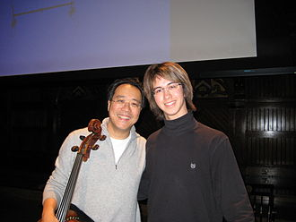 Charlie Albright - Yo-Yo Ma with Albright in December 2008