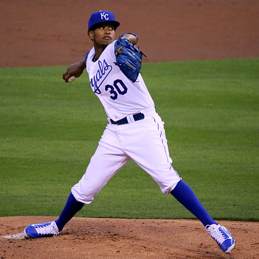Yordano Ventura on October 8, 2015