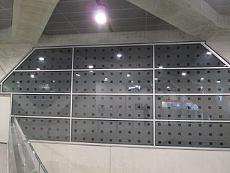York University station - Artwork Piston Effect produces a lighting display when a train passes.