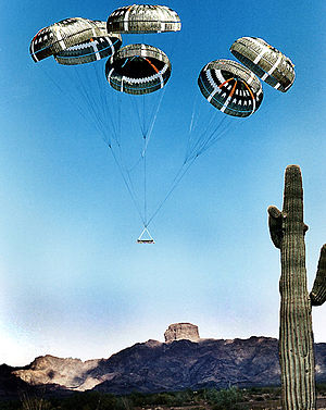 Castle Dome (butte) - Airdrop on the Yuma Proving Ground, Castle Dome and Castle Dome Mountains in background (looking east-northeast)