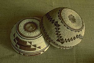 Yurok - Yurok women's basketry hats, Redwood National Park