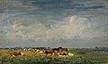 Zomers weidelandschap aan de IJssel met zicht op Hattem, Jan Voerman Sr., Voerman Museum Hattem.jpg