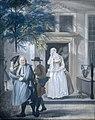 'De geveinsde droefheid'; eerste bedrijf, elfde toneel van het blijspel 'De ontdekte schijndeugd' van David Lingelbach (1687) Rijksmuseum SK-A-1707.jpeg