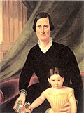 Laura Judd and her daughter in 1850