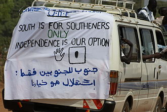 """South Sudanese independence referendum, 2011 - """"South is for southerners"""" - tensions from the civil war were a factor in the vote."""