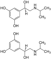 (±)-Orciprenaline Enantiomers Structural Formulae.png