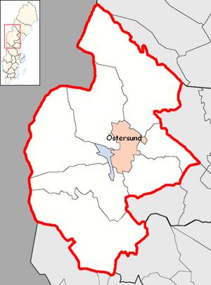 Östersund Municipality - Image: Östersund Municipality in Jämtland County