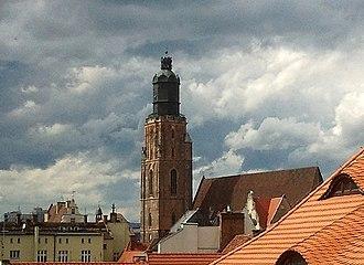 St. Elizabeth's Church, Wrocław - Image: Św. Elżbieta z okien Feniksa