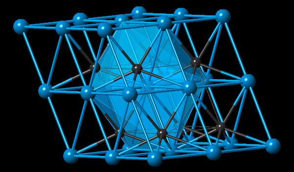 α-Tungsten carbide in the unit cell