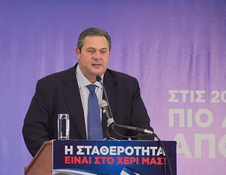 Right-wing populism - Panos Kammenos, leader of Independent Greeks and Greek Minister for National Defence