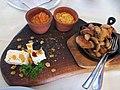 Македонско мезе од шарпланинско сирење, милиџано и печурки.jpg