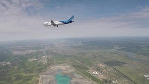 File:Первый полет нового пассажирского лайнера МС-21.webm