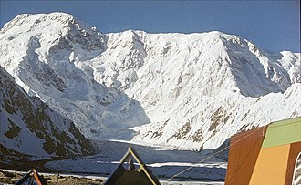 Jengish Chokusu - Peak seen in 1987. Photo by Jaan Künnap.