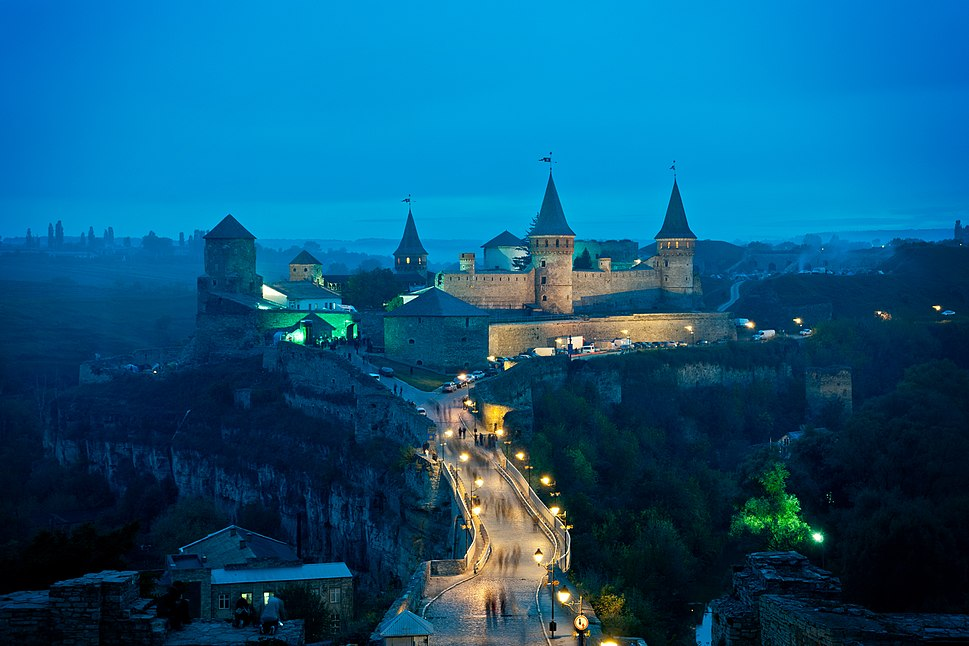 Medieval fortress in Kamianets-Podilskyi