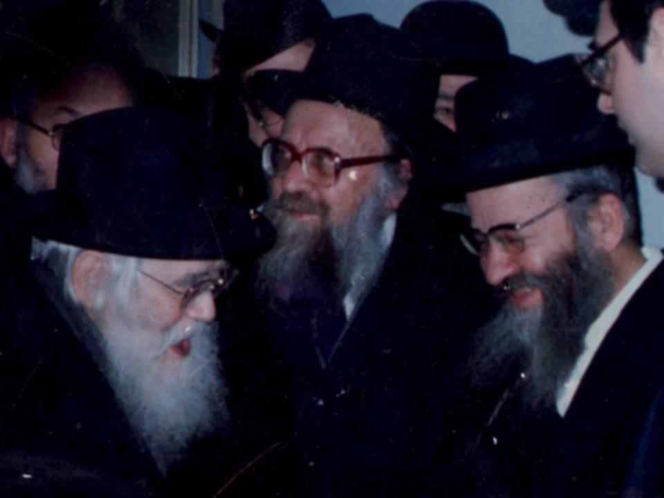 הרב מרדכי מן עם הרב שך והרב מ.ש. שפירא