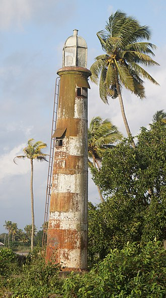 John Munro, 9th of Teaninich - Munro Light at Pullam, Kottayam