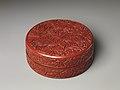 明 永樂 剔紅牡丹紋盒-Box with peonies MET DP255461.jpg