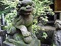高尾山びわ滝の狛犬 Koma-inu which can be seen by Biwa-taki of Mount Takao - panoramio (1).jpg