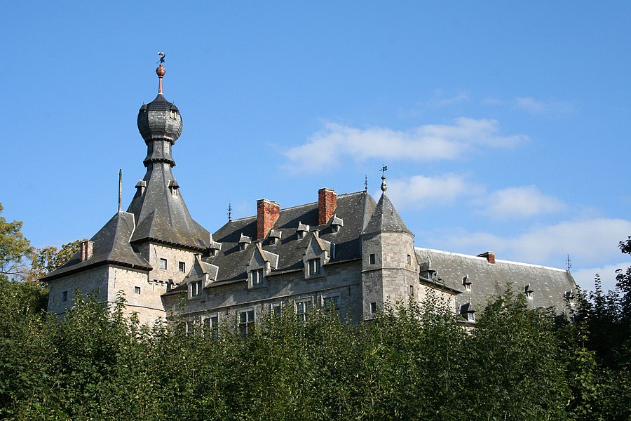 Chimay  (Belgium), castle of the princes of Chimay (XIII/XIXth centuries).