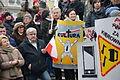 02016-01-09 Anti-christliche und regierungsfeindliche Propaganda von KODs bei der Demonstration in Bielsko-Biala.JPG