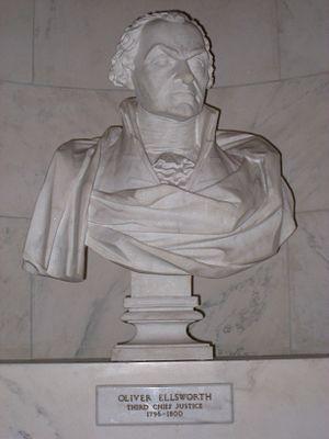 Hezekiah Augur - Oliver Ellsworth bust, by Hezekiah Augur
