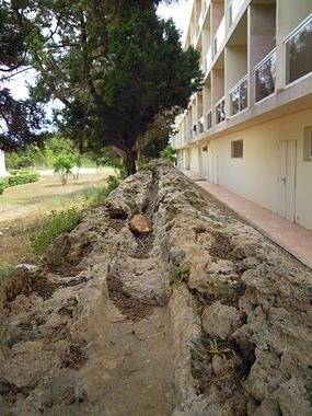 040-The remains of S'Argamassa Roman Fish Farm, Santa Eulalia 21 June 2013.JPG