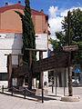 047 Premsa de biga, av. Tarragona - c. Sant Pere (Vilafranca del Penedès).JPG