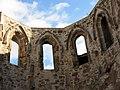 060 Sant Jeroni de la Murtra, finestrals de l'absis de l'antiga església.JPG