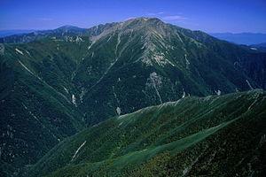 Mount Akaishi - Image: 07 Akaishidake from Hijiridake 2001 9 25