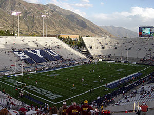 2004 USC Trojans football team - Fans enter the stadium before USC at BYU.