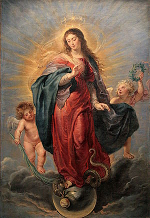 The Immaculate Collection - The album's title is a loose pun on the Immaculate Conception of the Virgin Mary (pictured)