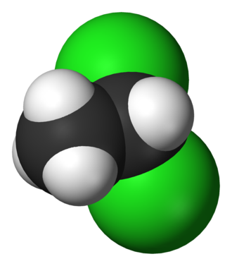 1,1-Dichloroethane - Image: 1,1 dichloroethane 3D vd W