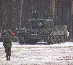 10th Armoured Cavalry Brigade (Poland) - Leopard 2A4 of the brigade, December 2005