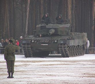 10th Armoured Cavalry Brigade (Poland) - Leopard 2A4 of the brigade, December 2005