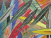 1170 Andergasse 10-12 - Ernest Bevin-Hof Stg 1 - Hauszeichen Olivenblätter von Adele Stadler 1958 IMG 4798.jpg