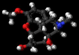 14-Hydroxydihydrocodeine - Image: 14 Hydroxydihydrocodein e molecule ball