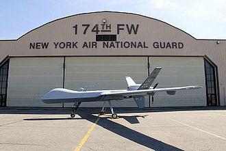 Hancock Field Air National Guard Base - Image: 174fw mq 9 hangar