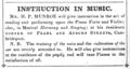 1849 Munroe music lessons Pearl Street advert Cambridge Directory Massachusetts US.png
