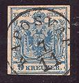 1850 Stamp Austria-Hungary 0005, Kaposvar, 7 November.jpg