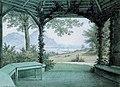 1865 - Nicolaus Christian Hohe - Pavillon im Park der Villa Deichmann mit Blick auf Rhein und Siebengebirge.jpg