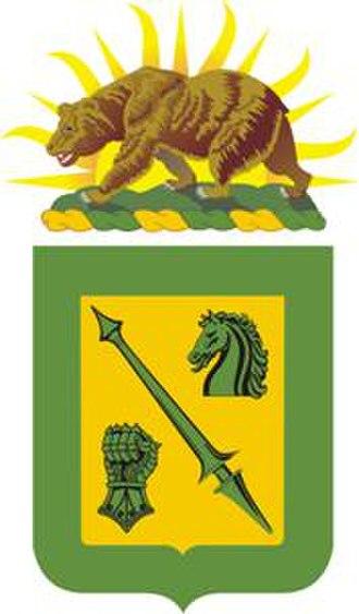 18th Cavalry Regiment - Coat of arms