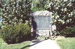 Allentown, Pennsylvania - 1926 tablet placed by the Daughters of the American Revolution at the Old Allentown Cemetery, Tenth and Linden Street, honoring American Revolutionary War patriots from Allentown.  The Old Allentown Cemetery, just behind this monument, has the graves of many of the patriots whose names are inscribed on the memorial.