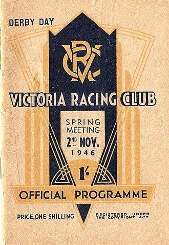 LKS Mackinnon Stakes - Image: 1946 VRC L.K.S. Mackinnon Stakes Racebook P1
